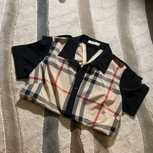 Burberry Button Up Blouse